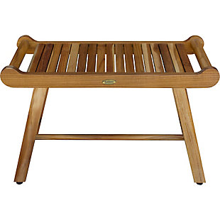 EcoDecors  Harmony Teak Wood Shower Bench with LiftAide Arms, , rollover