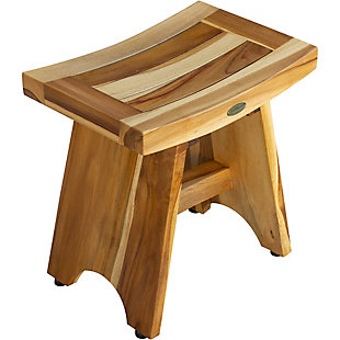 EcoDecors  Serenity Teak Wood Shower Bench, , rollover