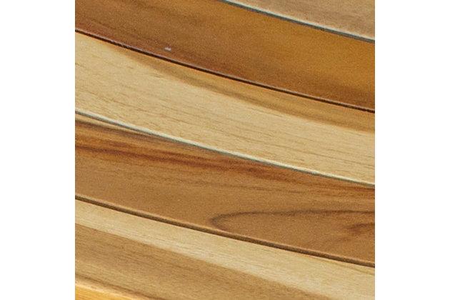EcoDecors  Serenity Teak Wood Shower Bench, , large