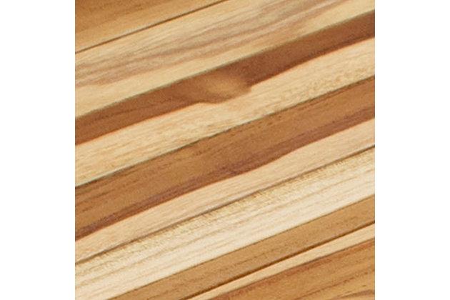 EcoDecors  Oasis Teak Wood Wide Corner Shower Bench, , large