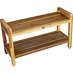 EcoDecors  Eleganto Teak Wood Shower Bench with LiftAide Arms, , large