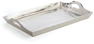 Home Accents Tray, Silver Finish, large
