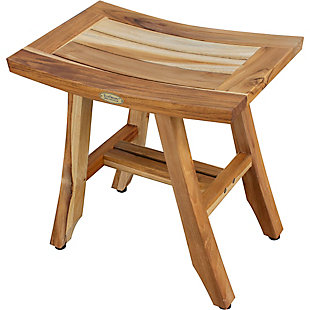 EcoDecors  Satori Teak Wood Shower Bench, , large