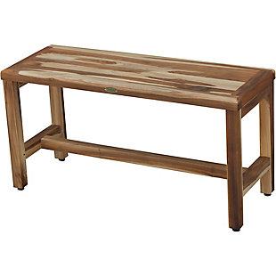 EcoDecors  Eleganto Teak Wood Shower Bench, , rollover