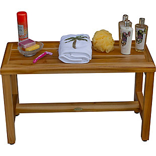 EcoDecors  Eleganto Teak Wood Shower Bench, , large