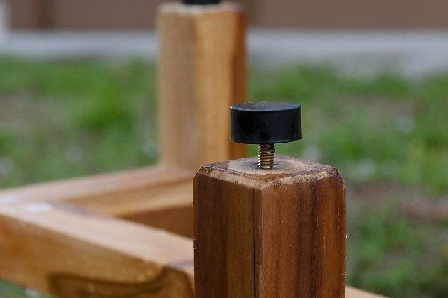 EcoDecors  Eleganto Teak Wood Shower Bench with Shelf, , large