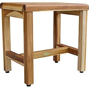 """EcoDecors  Eleganto 18"""" Teak Wood Shower Bench, , large"""