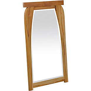 EcoDecors  Tranquility Teak Wood Wall Mirror, , rollover