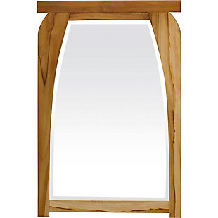 EcoDecors  Tranquility Teak Wood Wall Mirror, , large