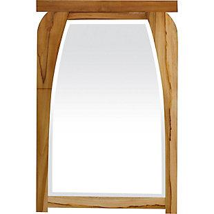 EcoDecors  Tranquility Teak Wood Wall Mirror, , large