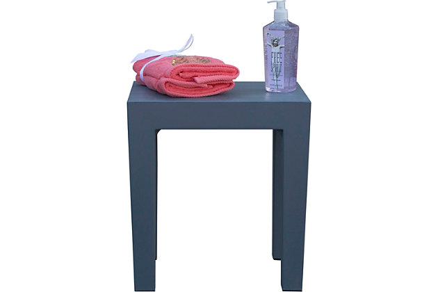 DecoTeak Design By Intent Polypropylene Plastic Shower Bench, Gray, large