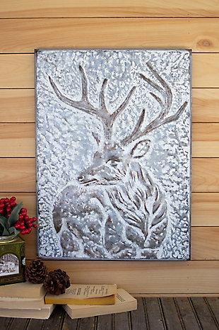 Christmas Metal Deer Wall Panel, , rollover