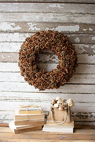 Christmas Pinecone Wreath, , rollover