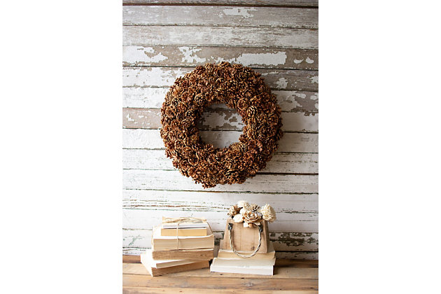 Christmas Pinecone Wreath, , large
