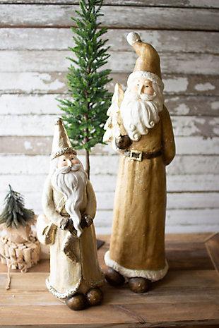 Christmas Set of Two Resin Santas, , rollover