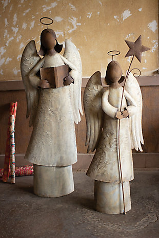 Christmas Set of Two Singing Christmas Angels, , rollover
