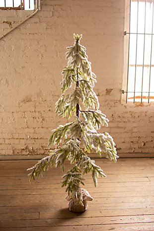 Christmas Artificial Frosted Christmas Tree - Large, , rollover