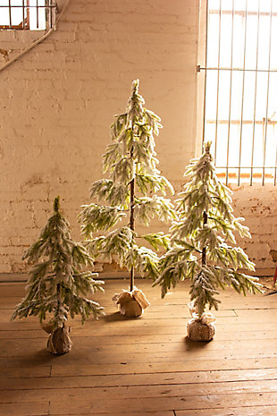 Christmas Artificial Frosted Christmas Tree - Large, , large