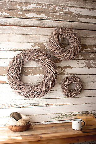 Christmas Set of Three Vine Christmas Wreaths, , rollover