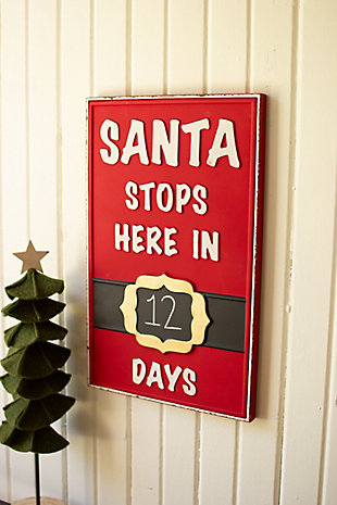 Christmas Santa Stops Here Sign, , large