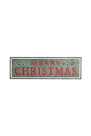 Christmas Painted Metal Merry Christmas Sign, , large