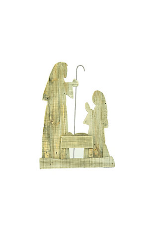 """Christmas 30"""" Tall Wooden Nativity with Stand, , large"""