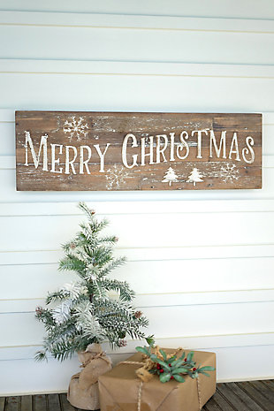 Christmas Merry Christmas Sign On Recycled Wood, , rollover