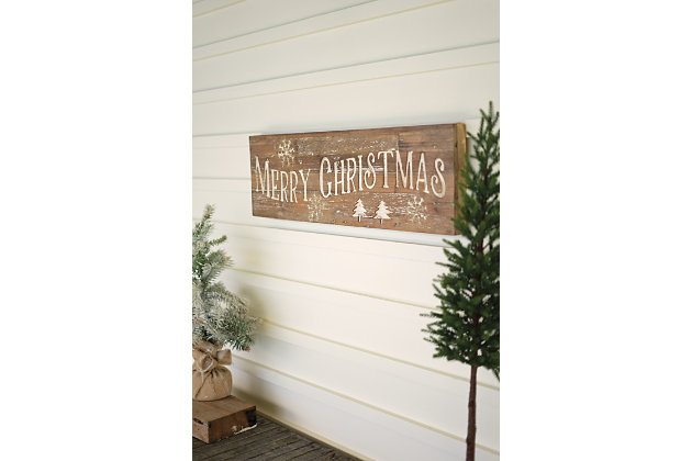 Christmas Merry Christmas Sign On Recycled Wood, , large