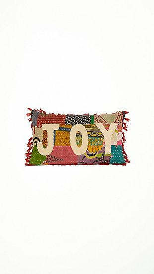 Christmas Christmas Joy - Kantha Pillow, , large