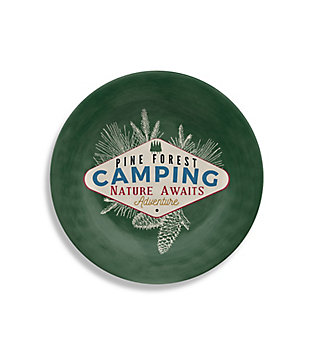 Christmas TarHong Vintage Lodge Camping Salad Plate (Set of 6), , large