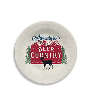 Christmas TarHong Vintage Lodge Deer Country Salad Plate (Set of 6), , large