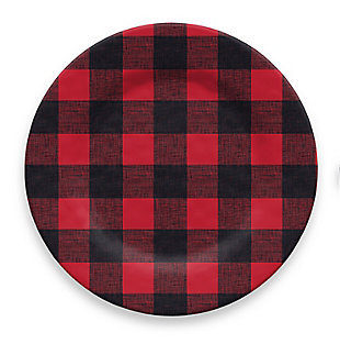 Christmas TarHong Vintage Lodge Buffalo Check Dinner Plate (Set of 6), , large