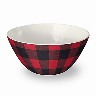 Christmas TarHong Vintage Lodge Buffalo Check Bowl (Set of 6), , large