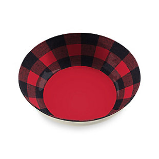 Christmas TarHong Vintage Lodge Buffalo Check Serve Bowl, , large