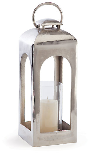 Home Accents Lantern, Silver Finish, large