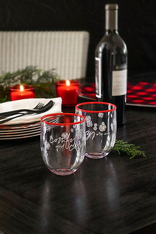Christmas TarHong Holiday 15 oz Cozy Premium Plastic Glass (Set of 6), , rollover