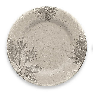Christmas TarHong Rustic Pine Dinner Plate (Set of 6), , large