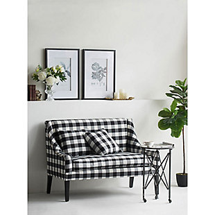 AB Home Plaid Settee, , rollover