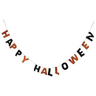 """Halloween  90"""" Wool Felt """"Happy Halloween"""" Banner, , rollover"""