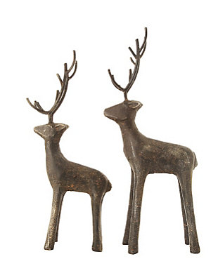 Christmas Cast Iron Standing Deer, , large