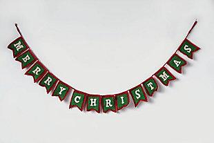 "Christmas ""Merry Christmas"" Wool Felt Garland, , rollover"