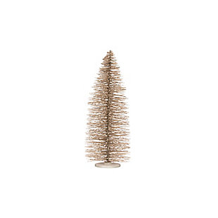 "Christmas 36"" Bottle Brush Tree on Wood Base with Glitter, , large"
