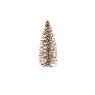 "Christmas 27.5"" Bottle Brush Tree on Wood Base with Glitter, , rollover"
