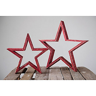 """Christmas 15.75"""" Wood Star with Distressed Finish, , rollover"""