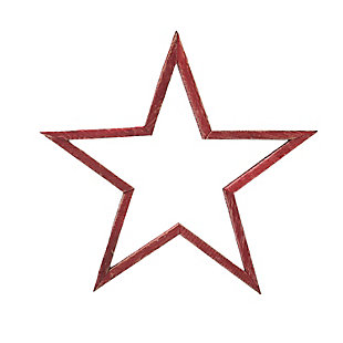 """Christmas 15.75"""" Wood Star with Distressed Finish, , large"""