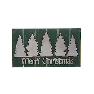 Christmas Merry Christmas Wood Wall Decor with Metal Trees, , rollover