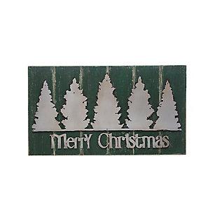 Christmas Merry Christmas Wood Wall Decor with Metal Trees, , large