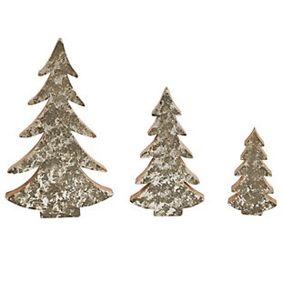 Christmas Wood Trees with Distressed Finish (Set of 3 Sizes), , rollover