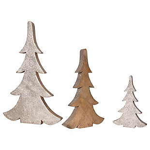 "Christmas 16.25"" Glittered Wood Tree (Set of 3 Sizes), , large"