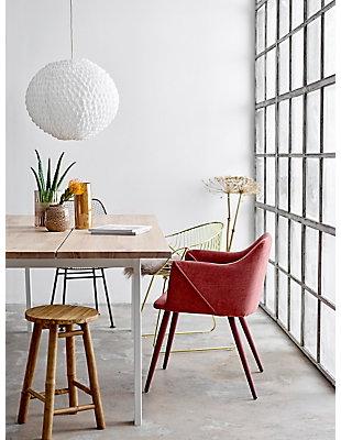 Elegant Matte Pink Embossed Glass Vase, , rollover
